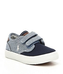 Image of Polo Ralph Lauren Boys' Lewis EZ Chambray and Canvas Sneakers