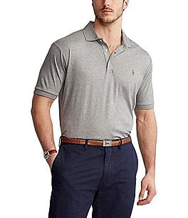Image of Polo Ralph Lauren Classic-Fit Cotton Soft Short-Sleeve Solid Polo Shirt