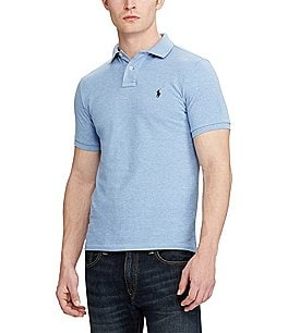 Image of Polo Ralph Lauren Custom-Slim Fit Solid Mesh Polo Shirt
