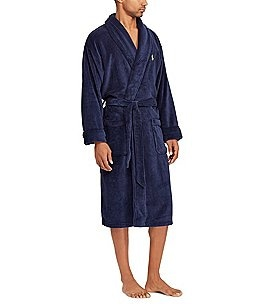 Image of Polo Ralph Lauren Solid Microfiber Plush Robe
