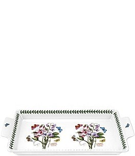Image of Portmeirion Botanic Garden Sweet Pea Handled Sandwich Tray
