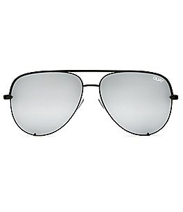 Image of Quay Australia Quay X Desi High Key Mirrored Aviator Sunglasses