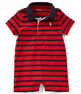 Image of Ralph Lauren Childrenswear Baby Boys 3-12 Months Striped Rugby Shortall