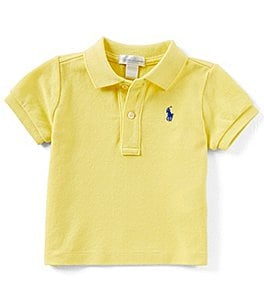 Image of Ralph Lauren Childrenswear Baby Boys 3-24 Months Basic Mesh Polo Shirt