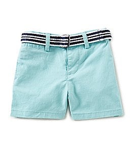 Image of Ralph Lauren Childrenswear Baby Boys 3-24 Months Belted Stretch Chino Shorts