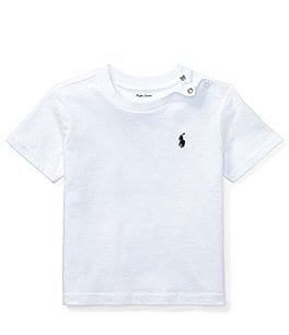 Image of Ralph Lauren Childrenswear Baby Boys 3-24 Months Crew Neck Short-Sleeve Tee