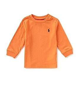 Image of Ralph Lauren Childrenswear Baby Boys 3-24 Months Long-Sleeve Tee