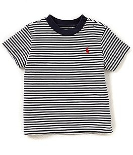 Image of Ralph Lauren Childrenswear Baby Boys 3-24 Months Short-Sleeve Nautical-Stripe Tee