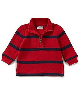 Image of Ralph Lauren Childrenswear Baby Boys 3-24 Months Striped French-Rib Pullover
