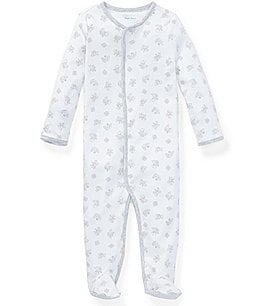 Image of Ralph Lauren Childrenswear Baby Boys Newborn-9 Months Long-Sleeve Printed Footed Coverall