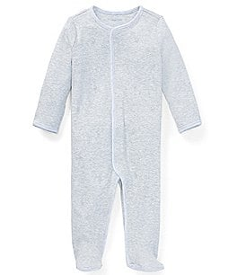 Image of Ralph Lauren Childrenswear Baby Boys Newborn-9 Months Pony Footed Coverall