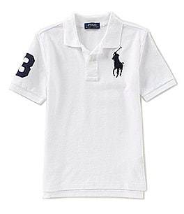 Image of Ralph Lauren Childrenswear Big Boys 8-20 Basic Mesh Big Pony Player Polo Shirt