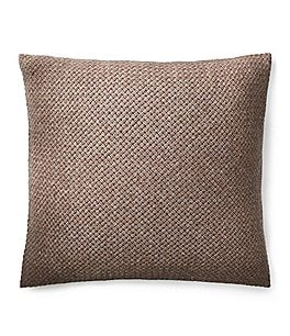 Image of Ralph Lauren Modern Icons Collection Tylar Basketweave Lambswool Square Feather Pillow