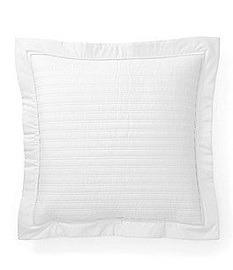 Image of Ralph Lauren Reed Quilted Sateen Square Feather Pillow