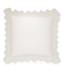 Image of Ralph Lauren Saranac Peak Collection Kayla Crochet Square Pillow