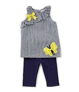 Image of Rare Editions Baby Girls 12-24 Months Checked Tunic & Solid Leggings Set