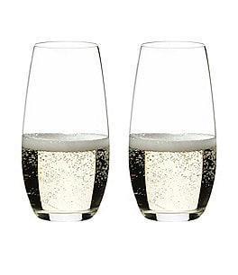 Image of Riedel O Wine Tumbler Champagne Stemless Glasses, Set of 2