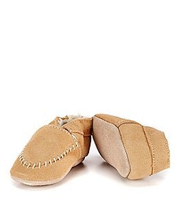 Image of Robeez Baby Boys' Cozy Soft Sole Suede Leather Moccasin Crib Shoes