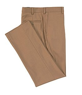Image of Roundtree & Yorke Travel Smart Ultimate Comfort Classic Fit Flat Front Non-Iron Twill Dress Pants