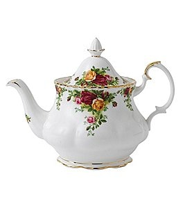 Image of Royal Albert Old Country Rose Floral Bone China Teapot