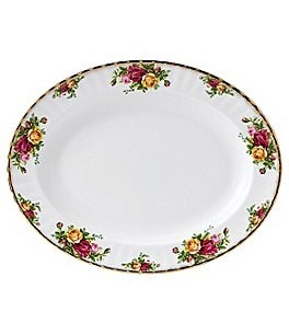 Image of Royal Albert Old Country Roses Floral Bone China Oval Platter