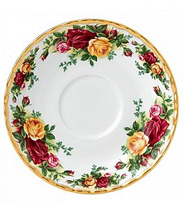 Image of Royal Albert Old Country Roses Floral Bone China Saucer