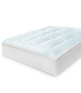 "Image of Sensorpedic Memory Cloud 3.5"" Gel-Infused Memory Foam & Fiber Mattress Topper"