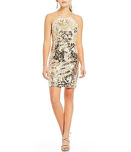 Image of Sequin Hearts Sequin-Embellished Sheath Dress