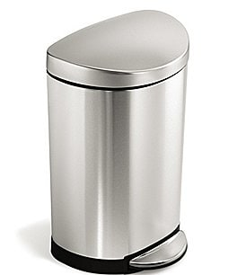 Image of simplehuman 10 Liter Semi-Round Step Trash Can