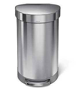 Image of simplehuman 45-Liter Semi-Round Step Trash Can