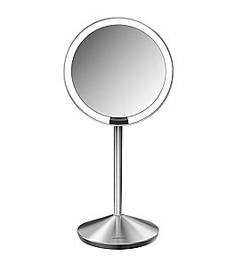 "Image of simplehuman 5"" Mini 10x Magnification Sensor Lighted Mirror"
