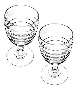Image of Sophie Conran for Portmeirion Ribbed Wine Glass Pair