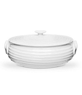 Image of Sophie Conran for Portmeirion Small Oval Porcelain Covered Casserole