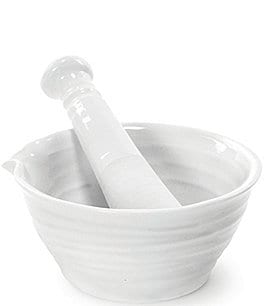 Image of Sophie Conran for Portmeirion White Mortar and Pestle Set