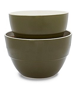 Image of Southern Living Harvest 2-Piece Earthenware Mixing Bowl Set