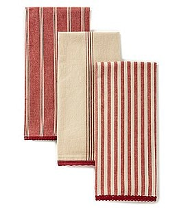 Image of Southern Living 3-Piece Striped Kitchen Towel Set