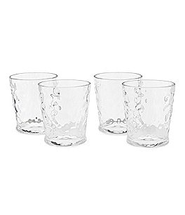 Image of Southern Living Acrylic Valencia Textured Double Old-Fashioned Glasses, Set of 4