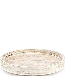 Image of Southern Living Festive Fall Collection Burnt White Washed Lazy Susan