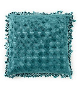 Image of Southern Living Crochet Fringe Square Pillow