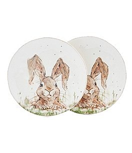 Image of Southern Living Easter Digger Bunny Salad Plates, Set of 2