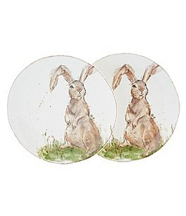 Image of Southern Living Easter Flopper Bunny Salad Plates, Set of 2