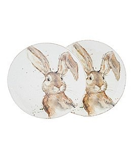 Image of Southern Living Easter Tuft Bunny Salad Plates, Set of 2