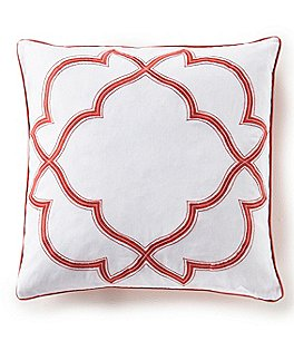 Image of Southern Living Embroidered Ogee Square Pillow
