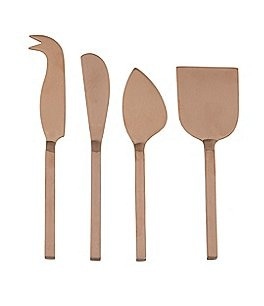 Image of Southern Living Gold Square Cheese Knives & Spreader Set