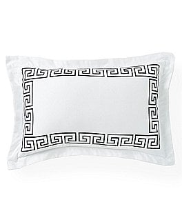 Image of Southern Living Greek Key Embroidered Oblong Breakfast Pillow