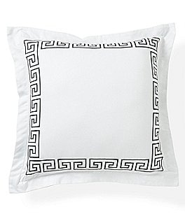 Image of Southern Living Greek Key Embroidered Square Pillow