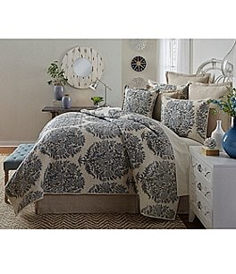 Image of Southern Living Hanover Floral Cotton & Linen Quilt Mini Set