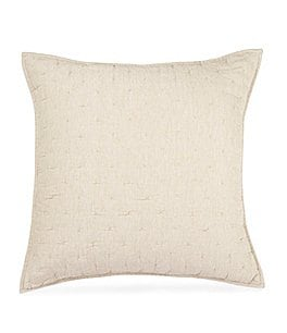 Image of Southern Living Heirloom Quilted Distressed Linen Euro Sham