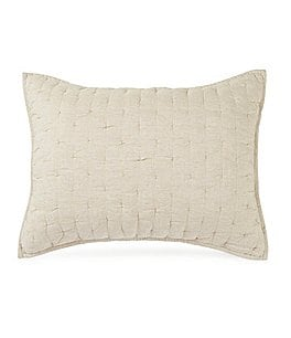 Image of Southern Living Heirloom Quilted Distressed Linen Sham