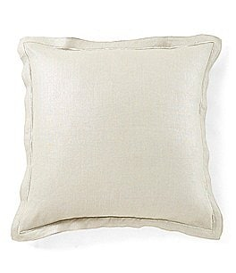 Image of Southern Living Holiday Lux Collection Foiled Linen & Velvet Square Pillow